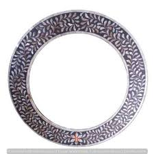 handmade mother of pearl inlay round
