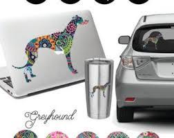 Greyhound Decal Etsy