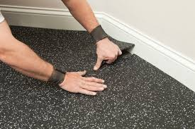 how to clean rubber garage flooring
