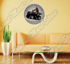 Beach Patrol Atv Four 4 Wheeler Dirt Bike Wall Sticker Room Interior Decor 22 For Sale Online