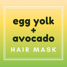 avocado and egg yolk hair mask for