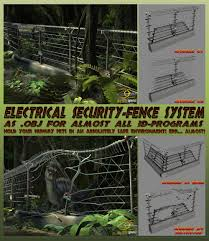 Electric High Security Fence System As Obj By Ancestorsrelic On Deviantart