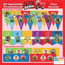 Kit Imprimible Personalizado Ricky Zoom Print Party Argentina