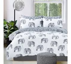 pieridae grey elephant bedding set