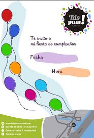 Invitacion De Cumpleanos Txispum