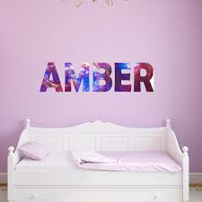 Vwaq Galaxy Wall Decals For Kids Rooms Personalized Name Wall Sticker