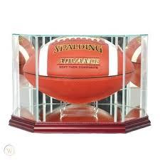 glass football display case uv nfl ncaa