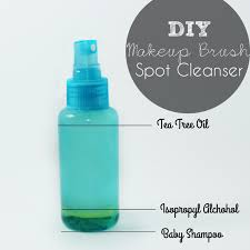 diy makeup brush spot cleanser this