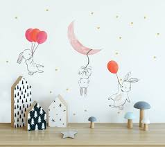 Isabelle Max 59 Piece Cute Cartoon Bunny Moon And Stars Wall Decal Set Reviews Wayfair