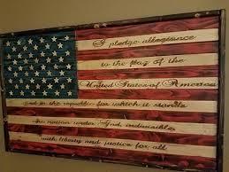 com rustic wood american flag