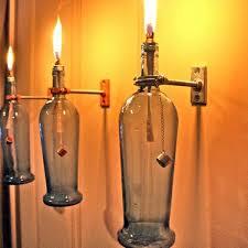 diy lamp from wine bottles creative