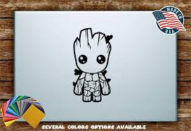 Baby Groot Guardians Of The Galaxy Avengers Silhouette Vinyl Etsy