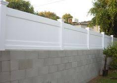 10 Block Wall Fence Ideas Block Wall Fence Fence Toppers