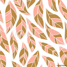 abstract leaves in pink and gold colors