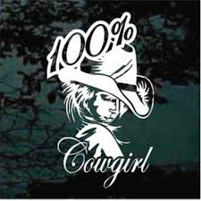 Cowgirl Car Decals Stickers Decal Junky