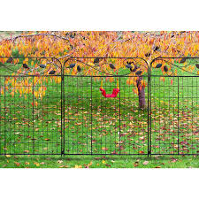 No Dig 3 7 Ft H X 3 Ft W Black Steel Decorative Fence Panel In The Metal Fence Panels Department At Lowes Com