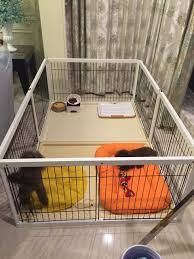 Solid Wood Indoor Dog Fence Large Medium And Small Dog Pet Dog Cage Female Cage Method Corgi Wooden Breeding Cage Set
