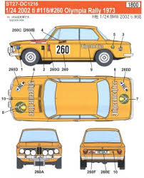 Bmw 2002 Ti 116 260 Olympia Rally 1973 Decal Hobbysearch Model Car Kit Store