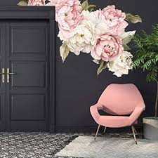 Amazon Com Murwall Floral Peonies Wall Decal Peony Bouquet Flowers Removable Peel And Stick Wall Sticker Handmade