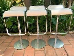 piston genuine leather bar stool lem