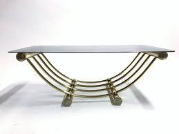 brass coffee table 1970s holywood