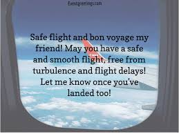 best have a safe flight wishes