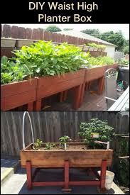 diy waist high planter box garden