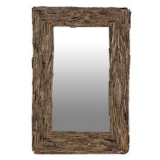 large driftwood wall mirror driftwood