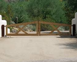 Driveway Gate With Wood Traditional Exterior Phoenix By Grizzly Iron Inc