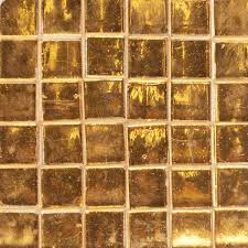 brass colored mirror tile with