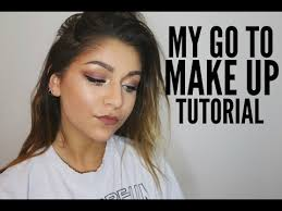 my go to make up tutorial andrea