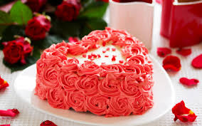 تحميل خلفيات كعكة القلب كعكة عيد ميلاد عريضة 2560x1600 جودة