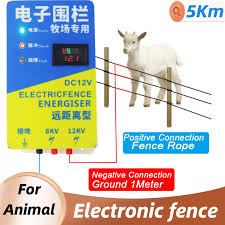 High Voltage Solar Electric Fence For Animal Fence Energizer Charger Pulse Controller Poultry Farm Electric Fence Insulators Sensor Detector Aliexpress