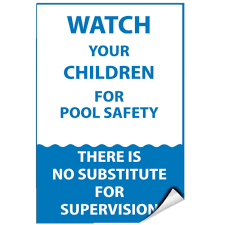 Watch Your Children For Pool Safety Activity Sign Label Decal Sticker For Sale Online
