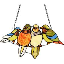 bird suncatcher stained glass birds