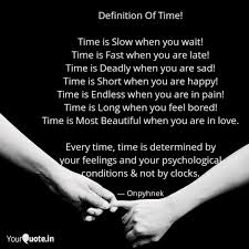 definition of time time quotes writings by खौलती