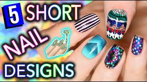 5 easy nail art designs for short nails