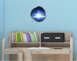 12 Porthole Space Window Warp Light Speed 3 Round Wall Sticker Decal Graphic Decor Decals Stickers Vinyl Art