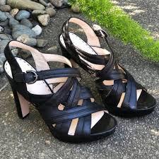 coach shoes black leather crisscross
