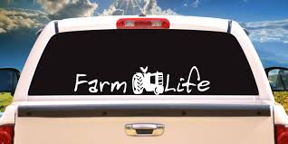 Farm Life W Tractor Vehicle Window Decal Sticker Choose A Etsy Laptop Decal Stickers Farm Life Window Decals