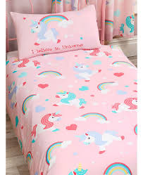 i believe in unicorns single duvet