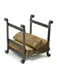 stoll forged iron log holder stylish