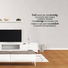 Wall Decal Quote God Grant Me The The Serenity To Accept The Things I Cannot Change Prayer Sticker Vinyl Home Bedroom Saying Jp901 Walmart Com Walmart Com
