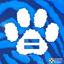 Equality Paw Print Decal Seward Street Studios