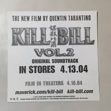 Lot Of 4 Kill Bill Vol 2 Soundtrack Promo Stickers Quen