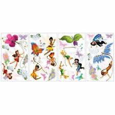 Roommates 5 In X 11 5 In Disney Fairies 30 Piece Peel And Stick Wall Decals Rmk1493scs The Home Depot