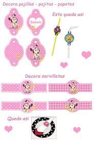 Kit Imprimible Minnie Mouse Bebe Tarjetas Cajitas Y Mas Minnie