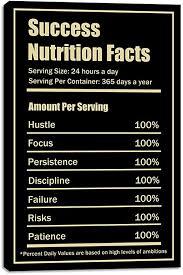 com yetaryy success nutrition facts motivational wall art