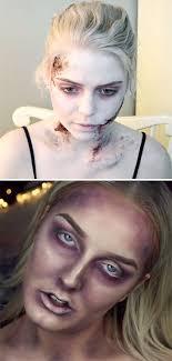 easy zombie makeup tutorials to terrify