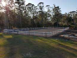 60x20m Horse Arena Fencing Kit White By Bounceback